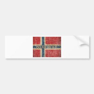 Vintage Noruega Etiqueta De Parachoque