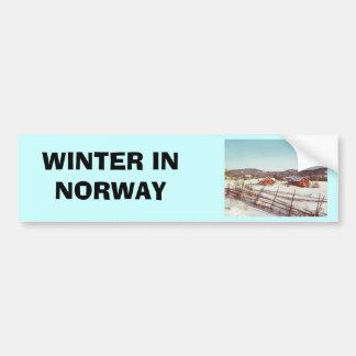 Vintage Noruega, cortijo en el navidad Pegatina Para Auto