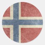 Vintage Noruega Etiquetas Redondas