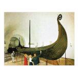 Vintage Noruega, nave de Gokstad Postales