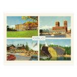 Vintage Noruega, Oslo, multiview Tarjeta Postal