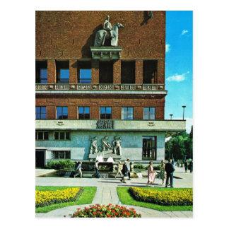 Vintage Norway,  Oslo, City Hall Postcard