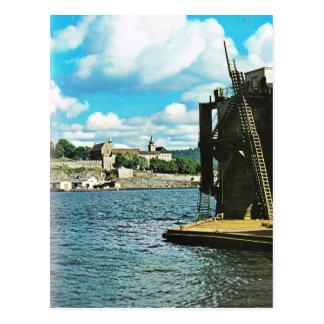 Vintage Norway,  Oslo,  harbour Postcard
