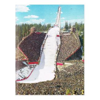 Vintage Norway,  Oslo, Olympic Stadium Postcard