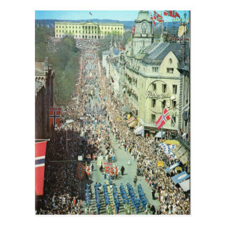 Vintage Norway,  Oslo, Parade Postcard