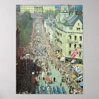 Vintage Norway,  Oslo Parade Poster
