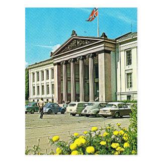 Vintage Norway,  Oslo,  University Postcard