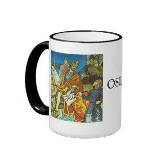 Vintage Norway, The king arrives in Oslo Ringer Mug