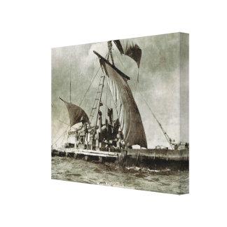 Vintage Norway, Thor Heyadahl, Kontiki Voyage Canvas Print