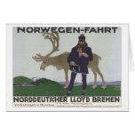 Vintage Norwegen Fahrt Card