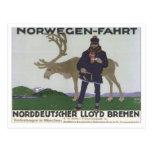 Vintage Norwegen Fahrt Post Cards