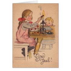 Vintage Norwegian / Danish God Jul Christmas Card at Zazzle