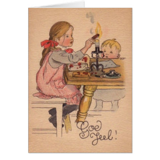 Vintage Norwegian / Danish God Jul Christmas Card