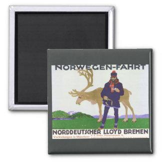 Vintage Norwegian Poster Norwegen-Fahrt Magnet
