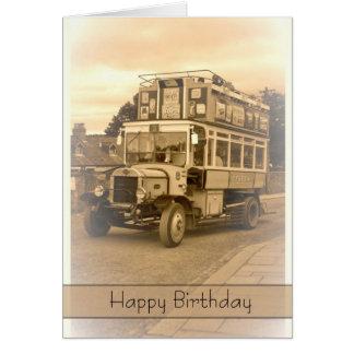 Vintage, Nostalgia, Retro Birthday Card - Old Bus