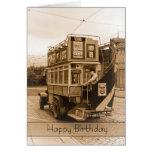 Vintage, nostalgia, tarjeta de cumpleaños retra -