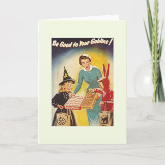 Vintage Nostalgic Halloween Greeting Card