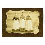 Vintage Notecard de la sandía y de los delantales Tarjetón