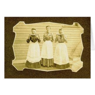 Vintage Notecard de la sandía y de los delantales Tarjeta Pequeña