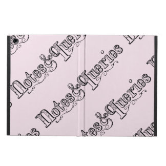 Vintage Notes And Queries Typograph iPad Air Case