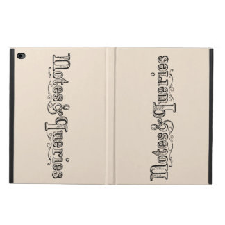 Vintage Notes And Queries Typograph Powis iPad Air 2 Case