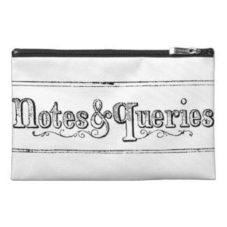 Vintage Notes And Queries Typograph Travel Accessory Bag