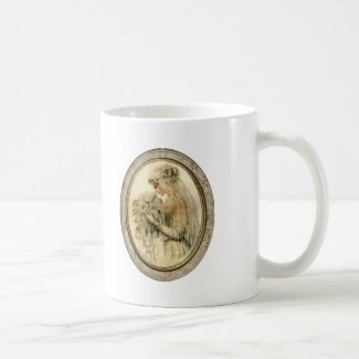Vintage Nothing is More Beautiful Bride Framed Mug