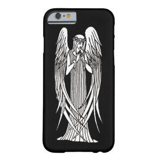 Vintage Nouveau Angel Black and White iPhone Case