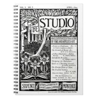 Vintage Nouveau Art Magazine Cover Notebook