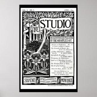 Vintage Nouveau Art Magazine Cover Poster