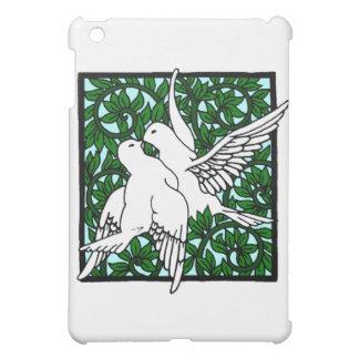 Vintage Nouveau Kissing Doves iPad Mini Case