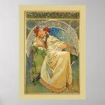 Vintage Nouveau Mucha Princess Poster