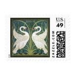 Vintage Nouveau Swans Postage Stamp