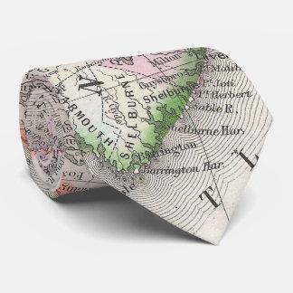 Vintage Nova Scotia and New Brunswick Map (1866) Tie