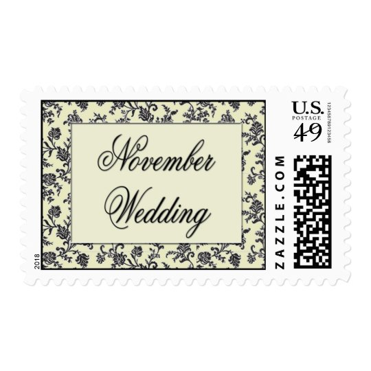 Vintage November Wedding postage