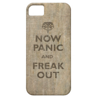 Vintage now Panic And Freak Out iPhone 5 Cases