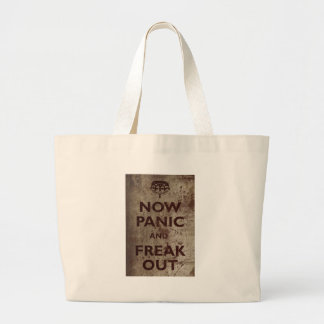 Vintage Now Panic & Freak Out Large Tote Bag