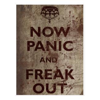 Vintage Now Panic & Freak Out Postcard