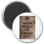 Vintage Now Panic & Freak Out Refrigerator Magnets