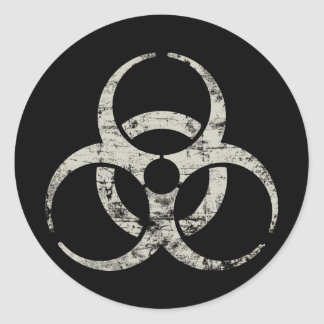 Vintage Nuclear Symbol Round Stickers