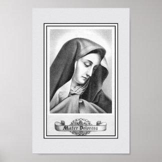Vintage nuestra señora de piadoso católico de los póster