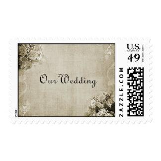 Vintage nuestro sello del boda