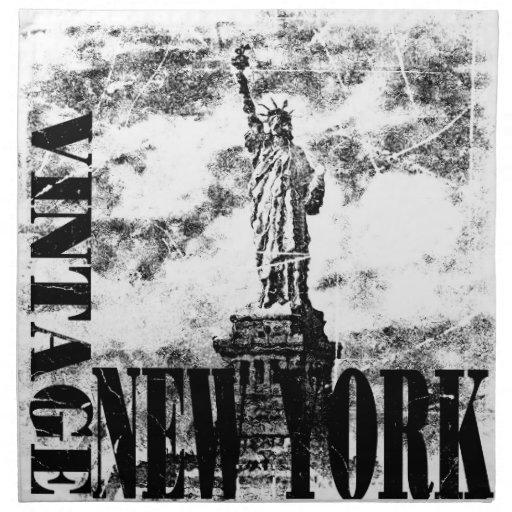 Vintage Nueva York #3 - servilletas del paño