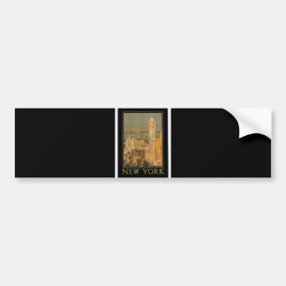 Vintage Nueva York de Glasgow por la línea del anc Etiqueta De Parachoque