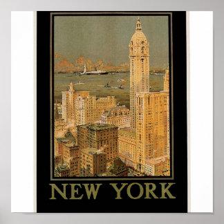 Vintage Nueva York de Glasgow por la línea del anc Impresiones