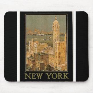 Vintage Nueva York de Glasgow por la línea del anc Tapetes De Ratones