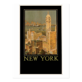 Vintage Nueva York de Glasgow por la línea del Postal