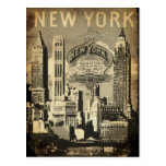 Vintage Nueva York de la señal del viaje de los E. Tarjeta Postal
