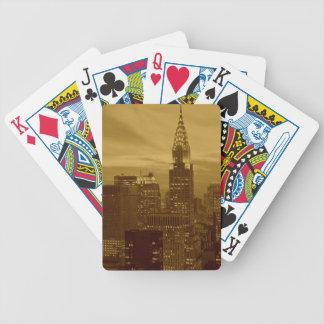 Vintage Nueva York Manhattan Cartas De Juego