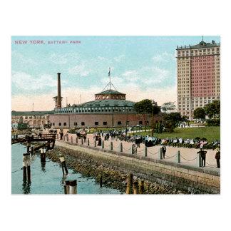 Vintage Nueva York, parque de batería Tarjetas Postales